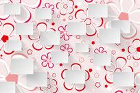 粉红色花朵背景花纹背景墙
