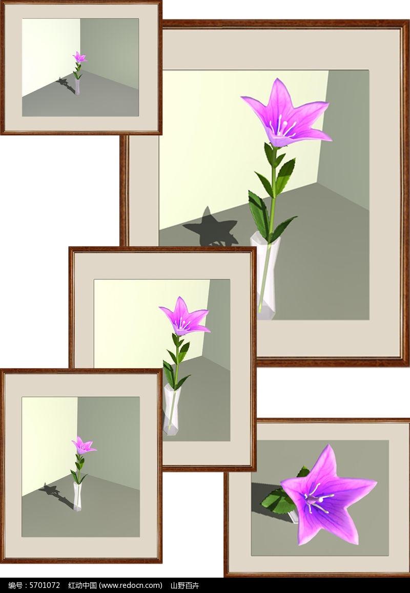 桔梗花与花瓶图片