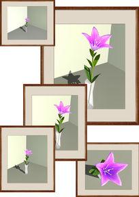 桔梗花与花瓶