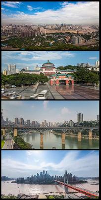 实拍山城重庆延时移轴摄影高清视频素材