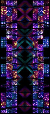 动感绚丽矩阵舞台灯光闪烁闪耀LED视频