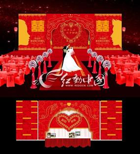 中式传统婚礼背景设计