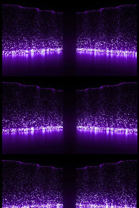 紫色粒子瀑布雨LED大屏幕视频素材