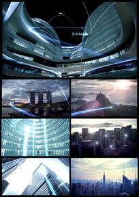 现代化高科技城市宣传片通用视频