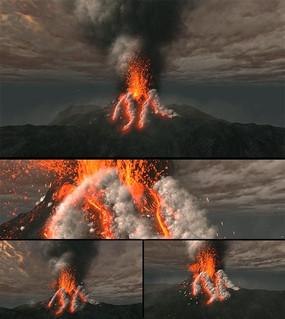 火山喷发视频