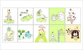儿童卡通印花图案