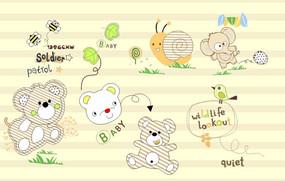 可爱动物印花图案
