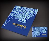 蓝色中国风创意封面