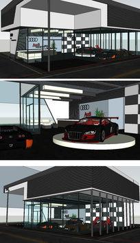 Audi奥迪展厅SketchUp模型