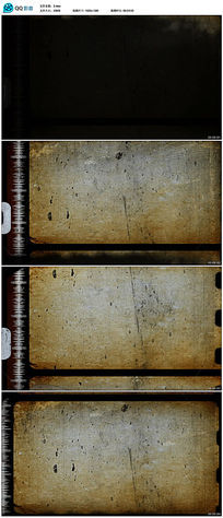 复古老胶卷视频素材