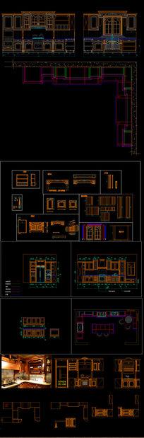 整木展厅素材全套图CAD图