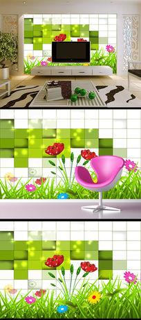 高清小清新花草唯美自然花卉客厅电视背景墙