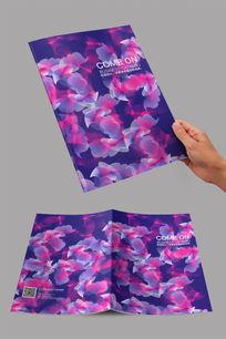炫烂紫色优雅花卉封面