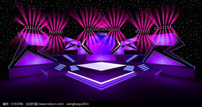 大型舞美演出舞台舞美设计图效果图