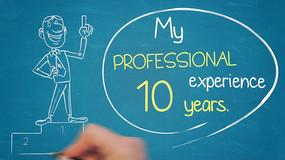 手写字企业演讲宣传或个人简历AE模板