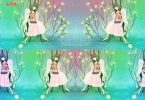 梦幻天使女孩背景视频