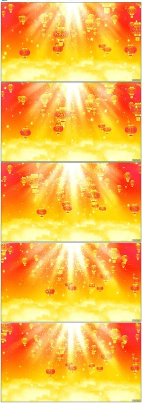 春节大红灯笼歌曲舞蹈LED背景模板下载