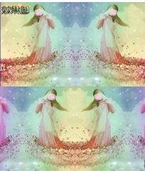 梦幻美丽女孩背景视频