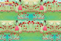 卡通小女孩网页背景视频