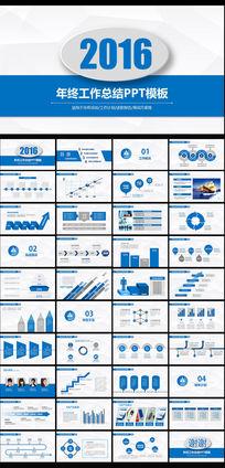 框架完整微立体年终工作总结PPT图片下载
