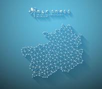 扁平化3D立体企业文化墙贵州地图