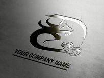 大气变形龙企业logo设计