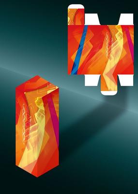 火红热性创意包装盒模板