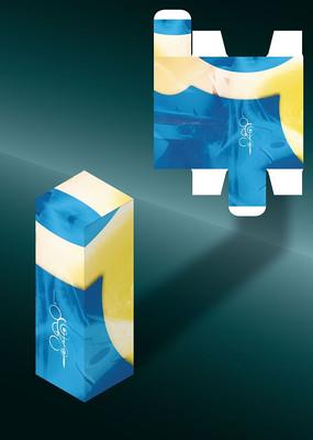 拼色科幻感创意包装盒模板