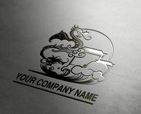中国风大气龙造型企业logo设计