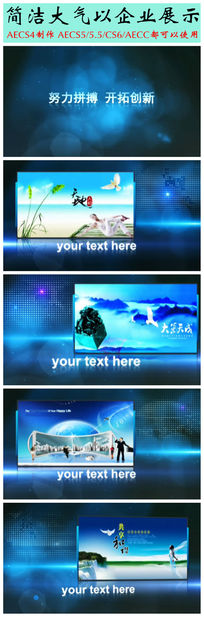 AE简洁大气商务企业宣传视频