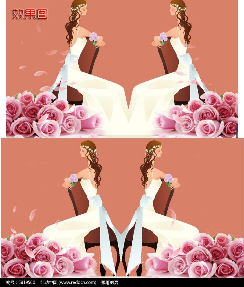 卡通新娘浪漫高清背景视频图片