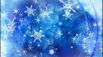 冬季冰莹雪花飘落led视频
