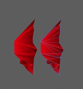 红色翅膀素材
