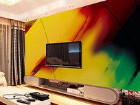 抽象时尚背景墙