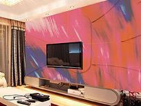 艺术感抽象背景墙