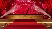 唯美LOVE爱心背景视频