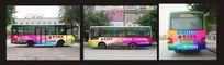 地产公交车车身广告