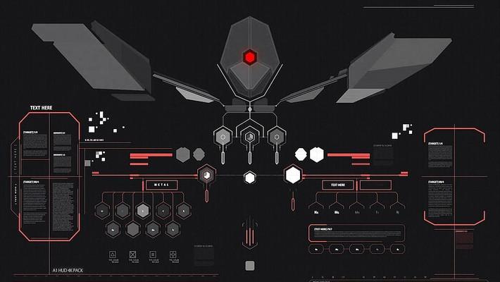 高科技科幻电影数字信息图形动画模板