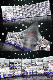 大气震撼企业员工照片墙AE模板