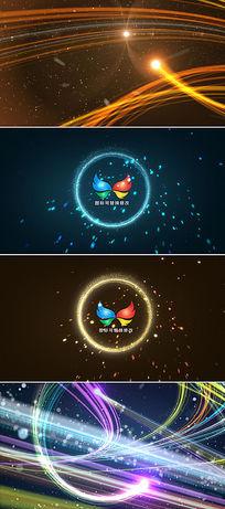 震撼粒子光线logo展示ae模板