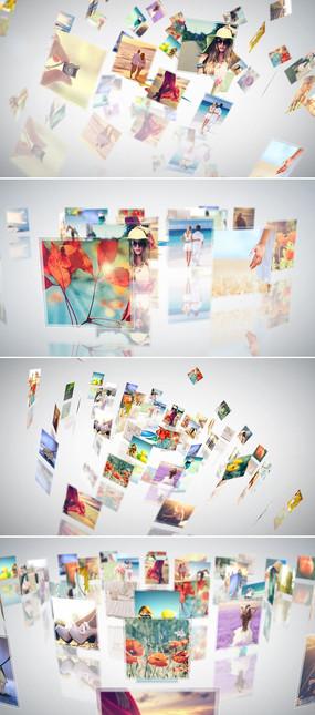三维空间照片展示ae模板