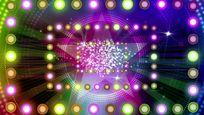 动感绚丽多彩方框灯光舞台背景视频
