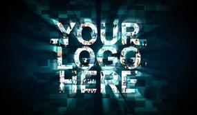 多图片照片汇聚成LOGO标志演绎模板
