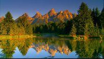 美丽的山水风光视频素材