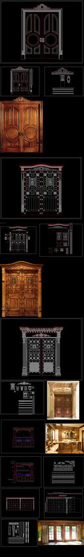 欧式整木复古大门浴室落地窗系列
