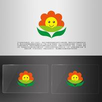 花朵向日葵幼儿园logo
