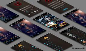 全套完整手机appUI界面 PSD