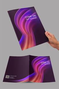 深紫色流线封面