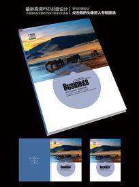 国际版式商业蓝色企业画册封面设计
