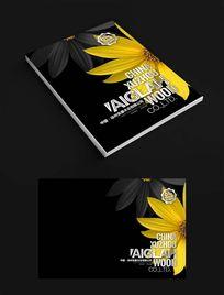 黑色花朵封面设计